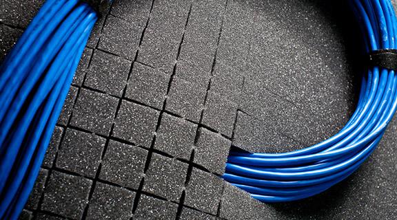 Polardam Foam Grommet Cable Cutout Gap Filler Access