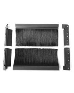 Use the Flush Mount Brush Kit to seal access floor holes that require custom size installation.