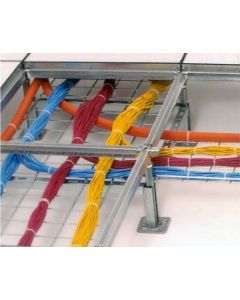 Cable tray system requires no tools for installation.