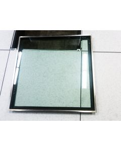 "Glass insert is a full 22"" x 22"" for maximum viewing area"
