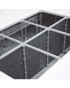 Directs airflow in supply plenum applications to maximize cooling efficiency .
