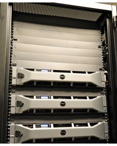 Panels quickly and easily fill large sections of open rack space, stopping bypass air flow and saving money