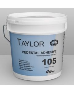 Specially formulated adhesive is compatible with all raised floor systems