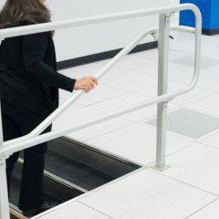 Combo rail at step - Combo include guard rail and attached handrail