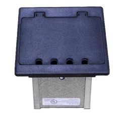 Box is reusable and has a durable black frame that will last for years.