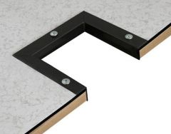 L Molding is used to line the inside of panels when they have been cut, typically to allow for the installation of cables below. Our L Molding is durable and proven to last.