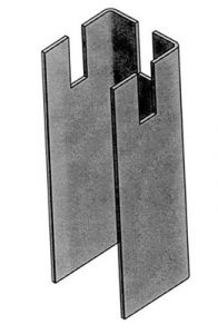 This Vertical Support elevates the cable tray off the floor to allow for free air flow.