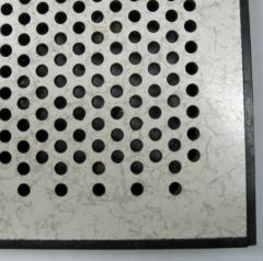 Perforated laminate available by the sheet